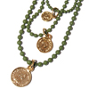Camryn Coins Necklace ネックレス レザー 財布 / ウォレット PD-29867 GREEN