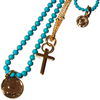 Denise Coins with Cross ネックレス シルバー ペンダント PD-29882 CY