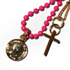 Dawn Coins with Cross ネックレス レザー 財布 / ウォレット PD-29882 PK